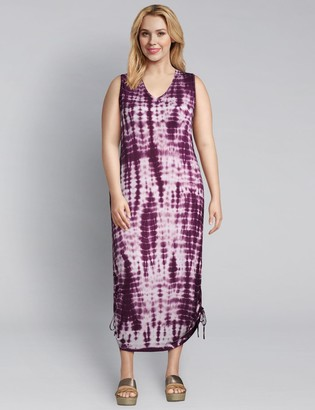 Lane Bryant Tie-Dye Side-Tie Midi Dress
