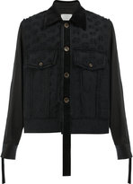 Song For The Mute raw edge detail jacket - men - Nylon/Cupro/Rayon/Wool - 52