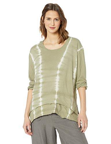 Nine West Women's Keasha Long Sleeve Sharkbite Hem Top