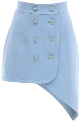 George Keburia Asymmetrical Crepe Mini Skirt
