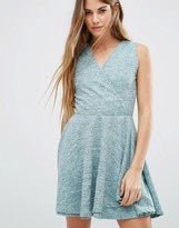 Wal G Wrap Front Skater Dress