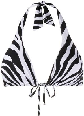 Dolce & Gabbana Zebra-Print Bikini Top