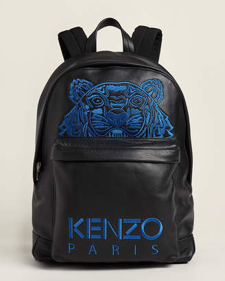 Kenzo Tiger Embroidered Leather Backpack
