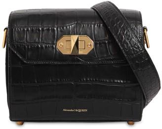 Alexander McQueen 21.5 Box Bag Croc Embossed Leather Bag