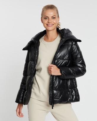 Calvin Klein Channel Quilt Puffer Hooded Jacket