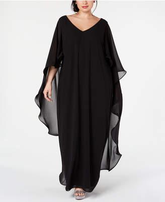 Xscape Evenings Plus Size Chiffon Cape Gown