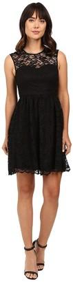 Jessica Simpson Women's Floral Scallop Lace Dress