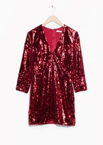 Other Stories Ruby Sequin Dress