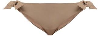 Skin The Rosie Side-tie Bikini Briefs - Brown