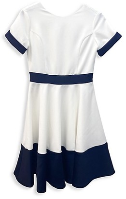 Un Deux Trois Girl's Colorblock Dress