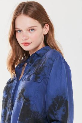 Urban Renewal Vintage Tie-Dye Silk Button-Down Shirt