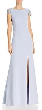 Eliza J Rhinestone Trimmed Gown