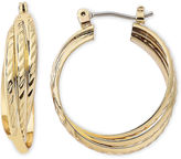 JCPenney MONET JEWELRY Monet Gold-Tone Triple Twist Hoop Earrings