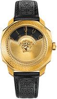 Versace Women's Swiss Black Leather Strap Watch 38mm VQU020015
