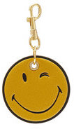 Anya Hindmarch Smiley Leather Keychain