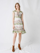 Maje Printed silk dress
