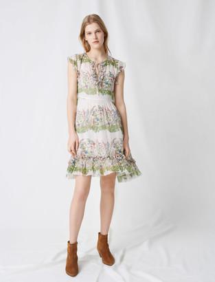 Maje Printed silk dress