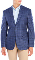 Vince Camuto Blue Gingham Silk-Blend Sport Coat