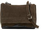 3.1 Phillip Lim Ames Leather-paneled Suede Shoulder Bag - Green