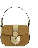 Moschino Glitter & Leather Convertible Crossbody Shoulder Bag