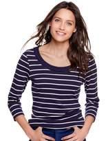 M&Co Stripe plait neck top