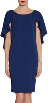 Gina Bacconi Simone Crepe Dress And Cape