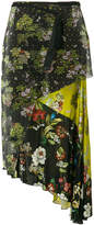 I'M Isola Marras layered floral-print and mesh skirt