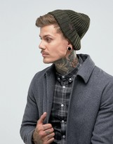 Barbour Langley Beanie In Olive