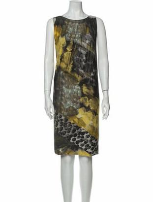 Alberta Ferretti Printed Knee-Length Dress Grey