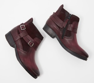 Miz Mooz Leather Buckle Ankle Boots - Daryn