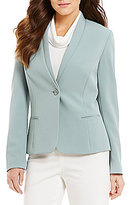 Preston & York Selena Shawl Collar Button Front Solid Jacket