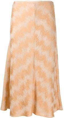 Forte Forte Metallic Thread Patterned Skirt