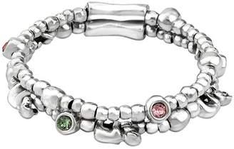 Uno de 50 Little George Monkey Charm & Bezel Set Swarovski Element Accented Stretch Bracelet
