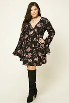 Forever 21 FOREVER 21+ Plus Size Floral Mini Dress