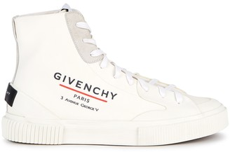 Givenchy Tennis Off-white Coated Canvas Hi-top Sneakers