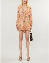 Zimmermann Zinnia floral-print silk-georgette playsuit