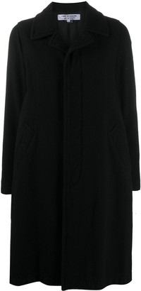 Comme des Garçons Comme des Garçons Long-Sleeved Concealed Buttoned Up Coat