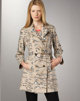 Marc by Marc Jacobs Tigra Printed Coat