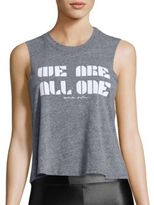 Spiritual Gangster We Are All One Cropped Tank