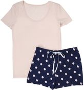 Nautica Dots Pajama Shorts Set