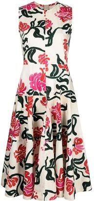Marni Abstract Floral Print Dress
