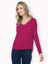 Splendid Rayon Jersey Long Sleeve Top