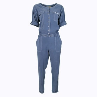 Lalipop Design Indigo Cupro Fabric Jumpsuit