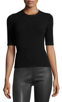 M Missoni Half-Sleeve Pullover Top, Black