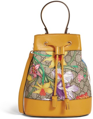 Gucci Small GG Flora Ophidia Bucket Bag