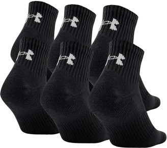 Under Armour UA Charged Cotton 2.0 Quarter Length Socks - 6-Pack