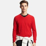 Uniqlo Men's Cotton Cashmere V-Neck Sweater