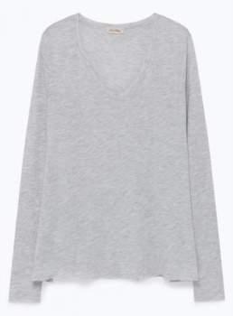 American Vintage Heather Grey JAC52 T-Shirt - XS - Grey