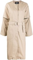 Karl Lagerfeld Paris button-front trench coat