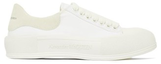 Alexander McQueen Panelled Canvas Trainers - White
